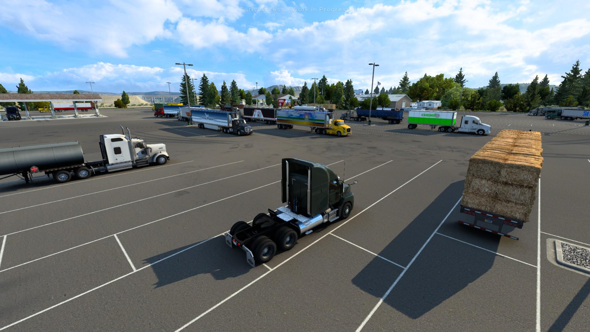 American Truck Simulator Wyoming Little America Truck Stop
