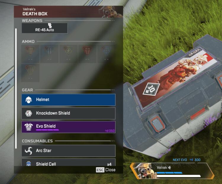 Здоровье щита Apex Legends Evo в ящике смерти