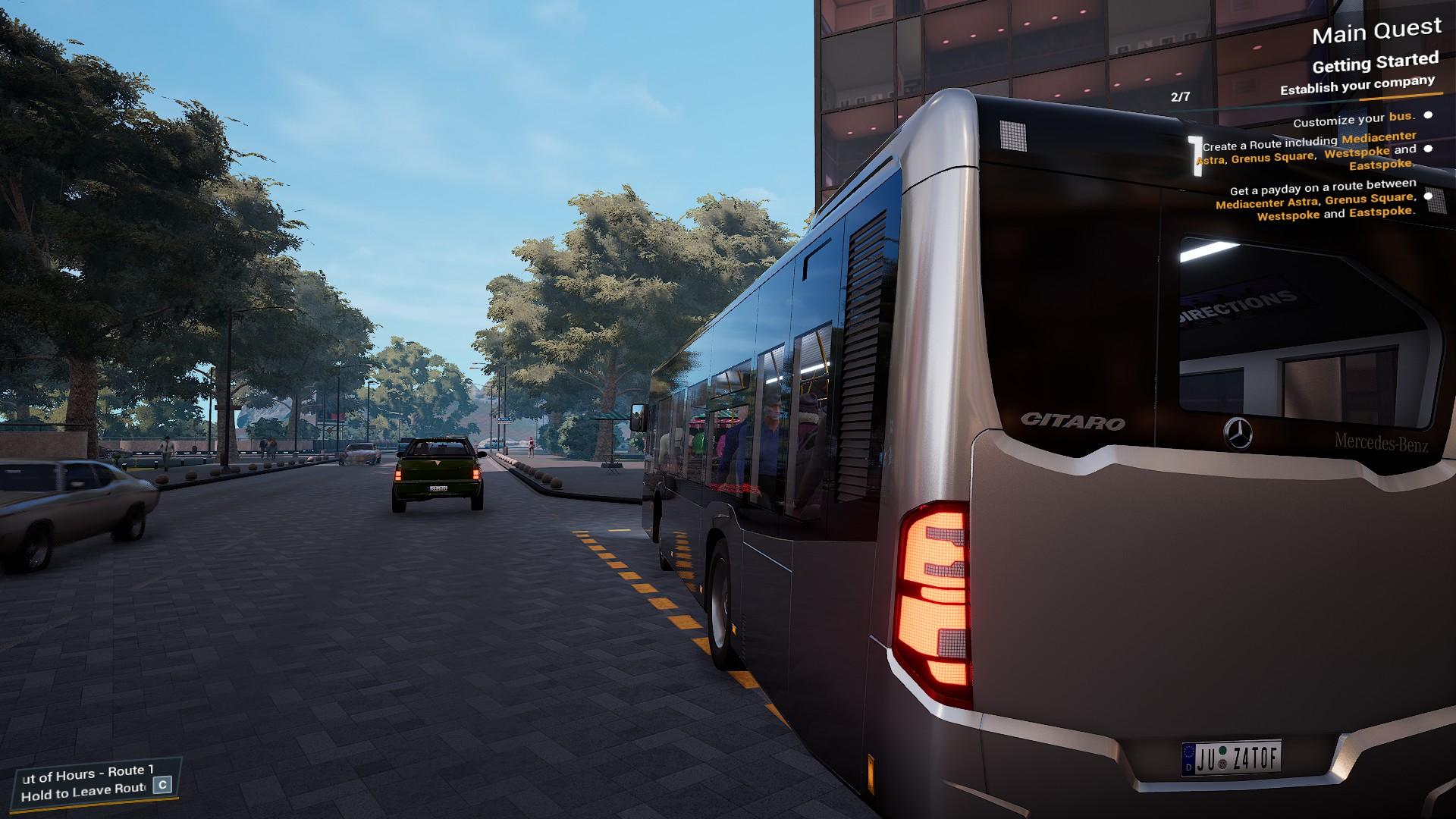 Bus Simulator 21 MB Citaro Back View