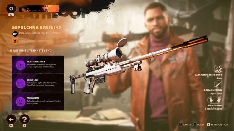 Deathloop Sepulchra Breteira Руководство Где найти Как получить Sepulchra Breteira Golden Weapon Keep On Giving 2
