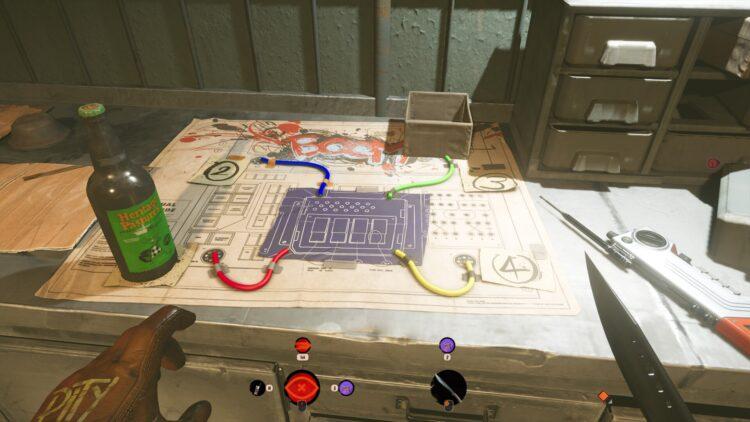 Код пиктограммы Deathloop Fia Отключить код ядерного реактора Разбитое изображение Fristad Rock 1a