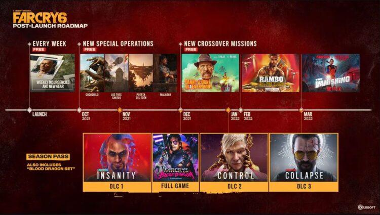 Дорожная карта контента после запуска Far Cry 6