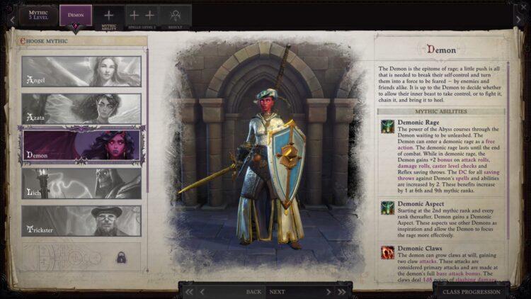 Следопыт Wrath Of The Righteous Mythic Paths Guide Как разблокировать все мифические пути Angel Demon Legend Mythic Hero Switch Mythic Path 2a