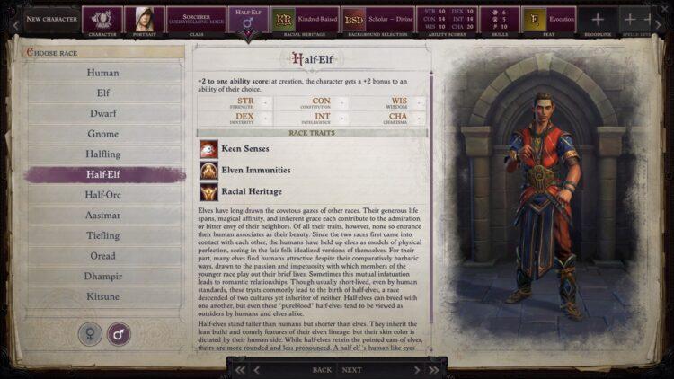Pathfinder's wrath of the best fit races to choose from Dhampir Kitsune Tiefling Elves Oread 3