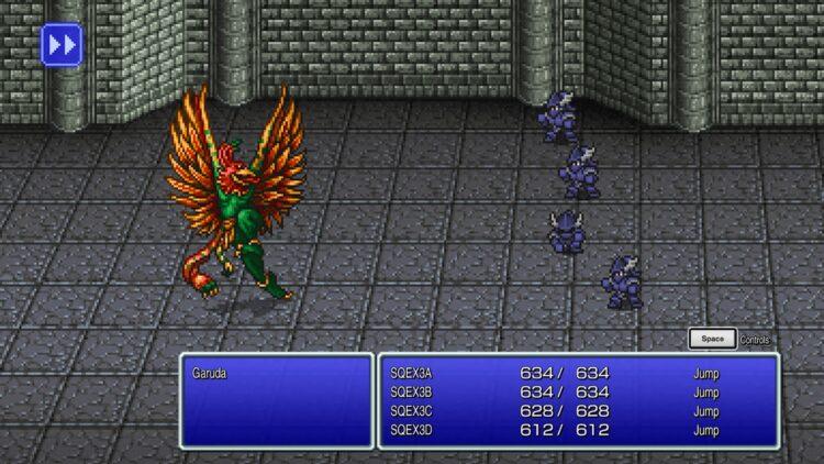 Патч для шрифтов Final Fantasy Pixel Remaster Старый интерфейс