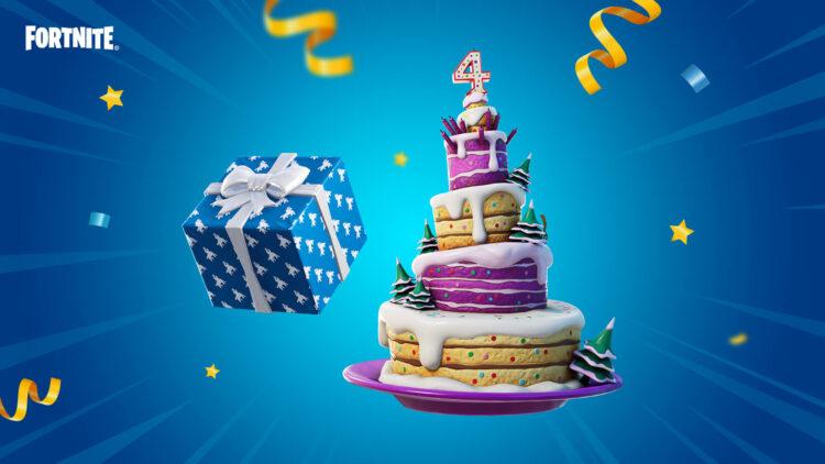 Fortnite Armored Walls Fourth Birthday Cake