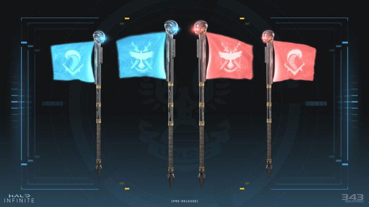 Infinite aura big team battle flags