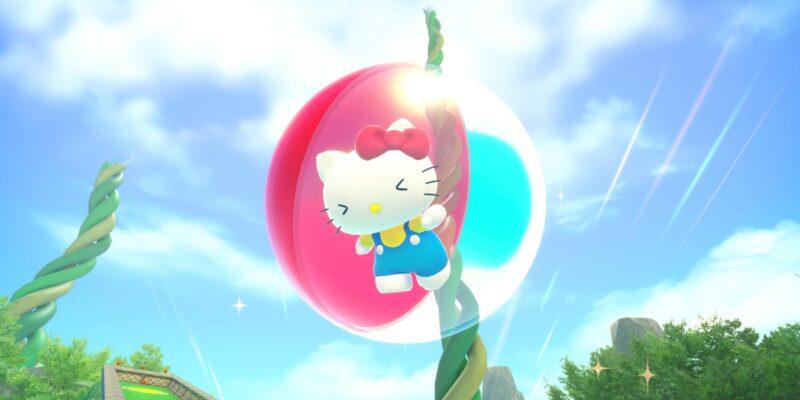 Super Monkey Ball Banana Mania Hello Kitty midair