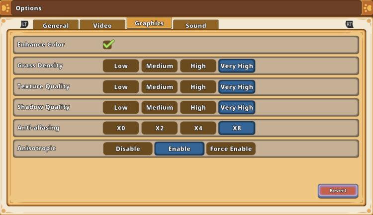 Kitaria Fables See graphics settings