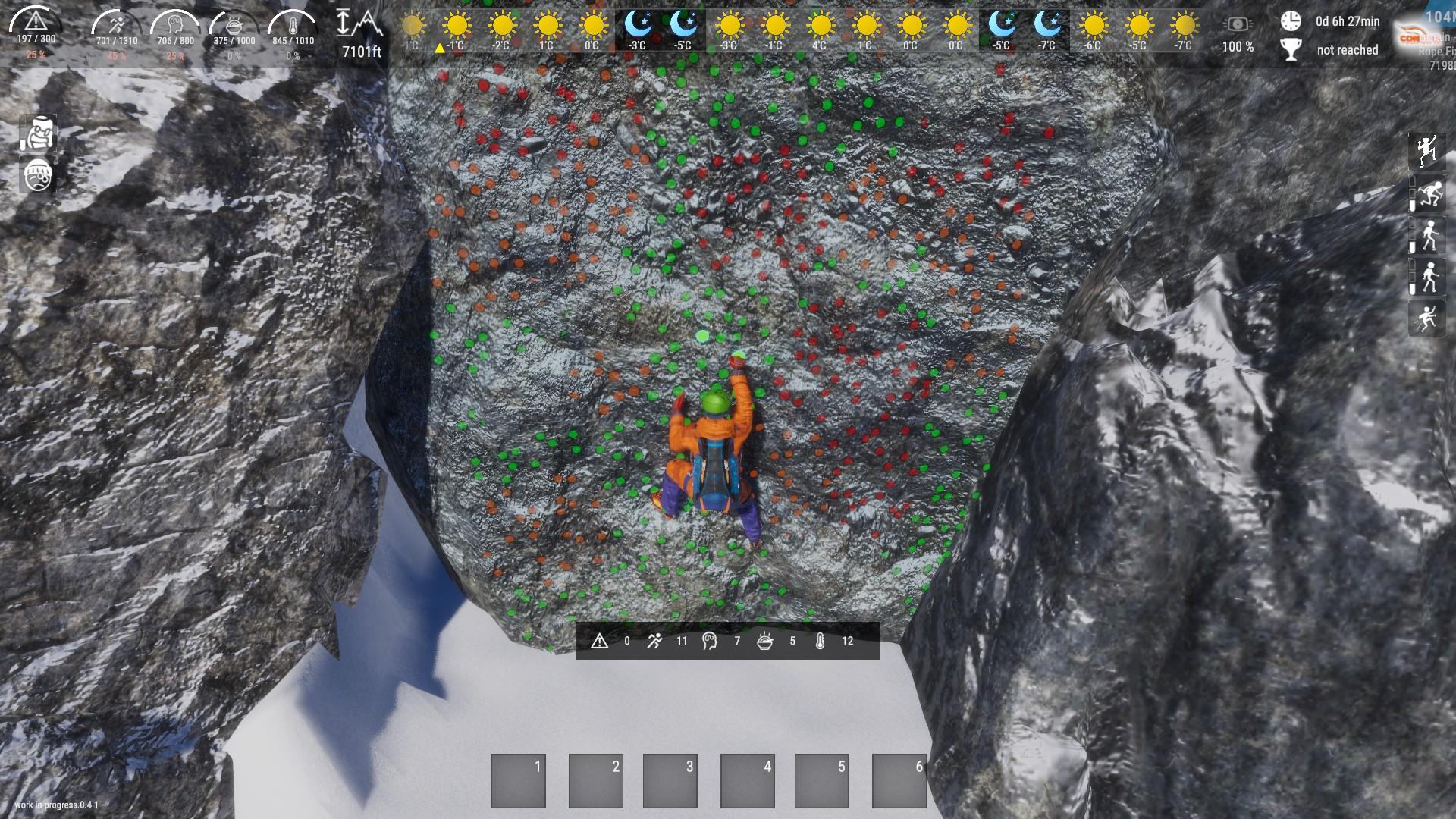 Climber Steam Next Fest Demo Simualtor Climbing Up A Mountain