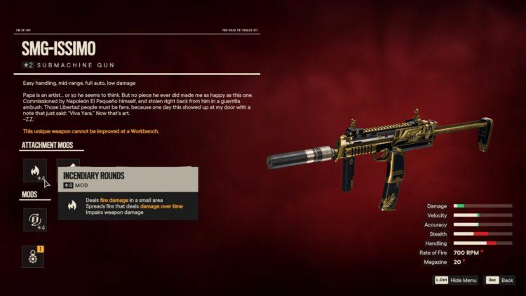Far Cry 6 Smg Issimo La Raja Bar 2