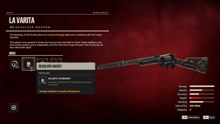 Far Cry 6 Triador Supremo La Varita Resolver Weapon Triada Blessings 2