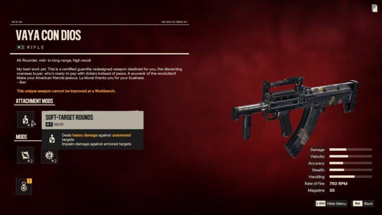 Far Cry 6 Vaya Con Dios Rifle Gabriel Castillo Airport 2