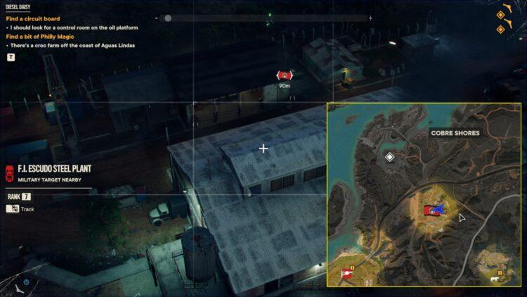 Far Cry 6 Эль Кабальеро Уникальный гранатомет Уникальное оружие Яран Контрабанда Fi Escudo Steel Plant Cobre Shores 1