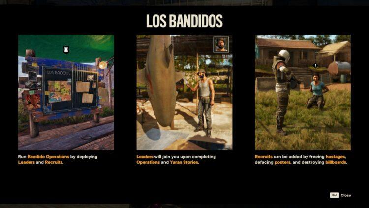 Far Cry 6 Los Bandidos Guide Mission Success Rewards Los Bandidos Leaders Los Bandidos Recruits 1a