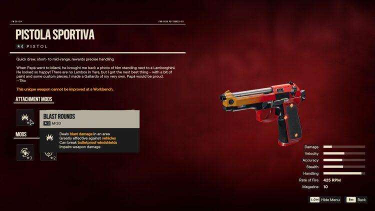 Far Cry 6 Pistola Sportiva Эль-Маратон Поле Вест Ладо 2