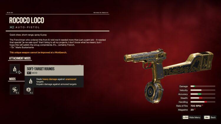 Far Cry 6 Рококо Локо Уникальный автопистолет 2