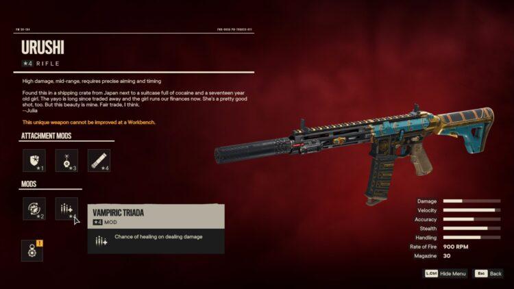 Far Cry 6 Уникальная винтовка Уруши Уникальное оружие Яран Контрабанда Доставка ярдов Esperanza 2