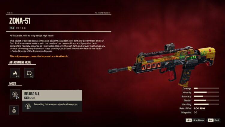 Far Cry 6 Зона 51 Уникальная винтовка Уникальное оружие Собор Дивинидад Яран Контрабанда 2