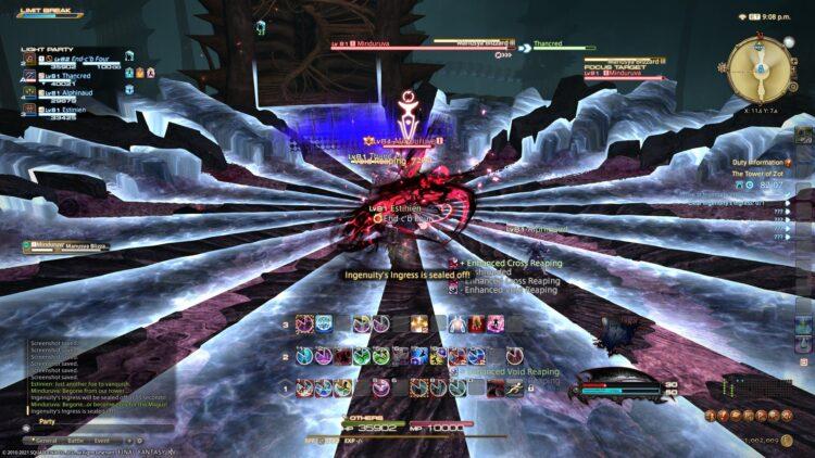 Endwalker - Reaper vs boss