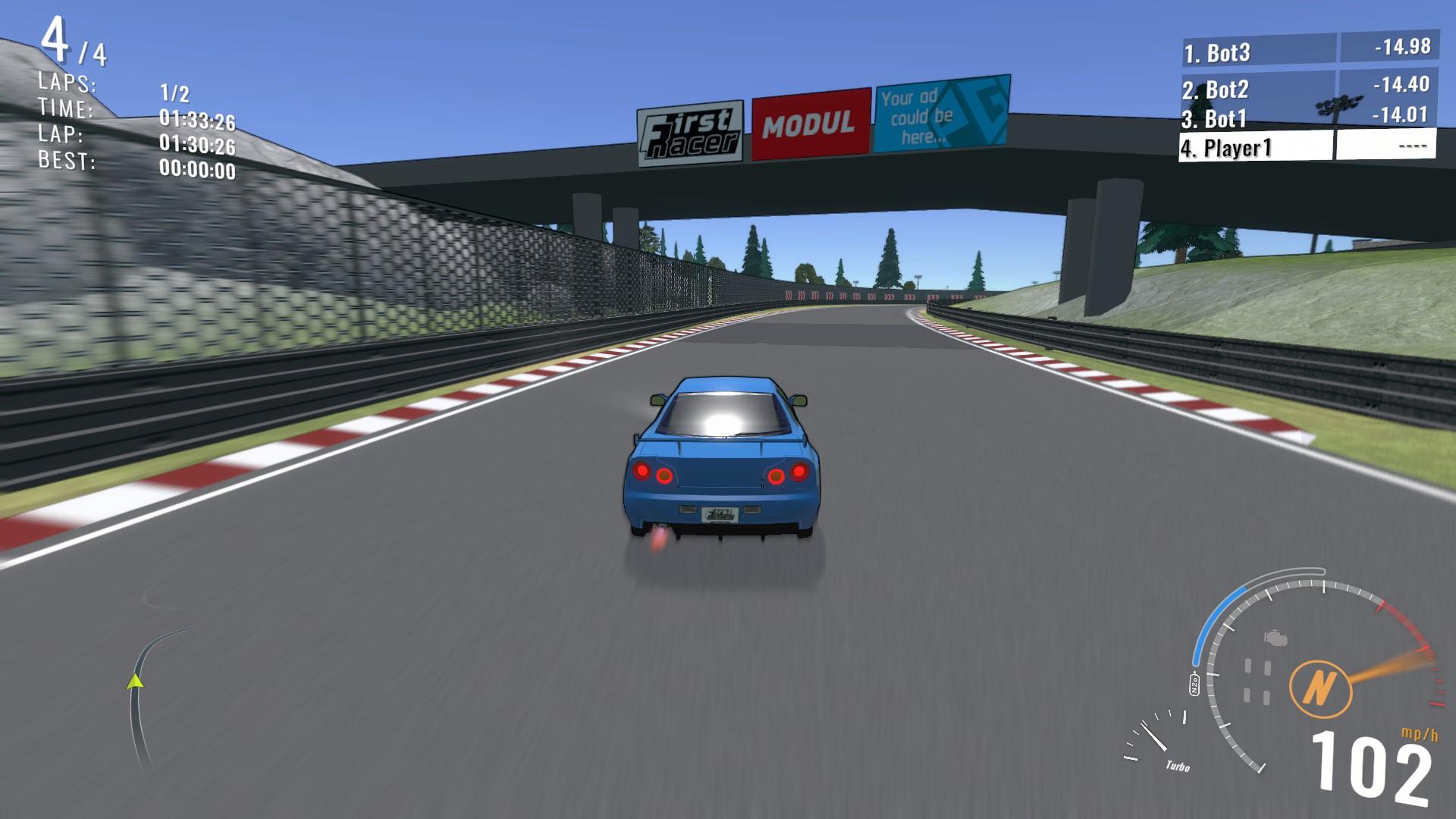 First Racer Steam Next Fest Racing Demo Boost Mode