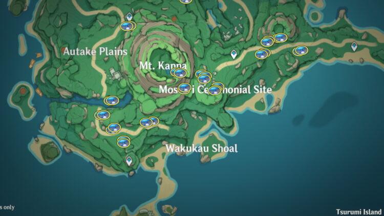 Genshin Impact Fluorescent Fungus Farming Locations Thoma 2