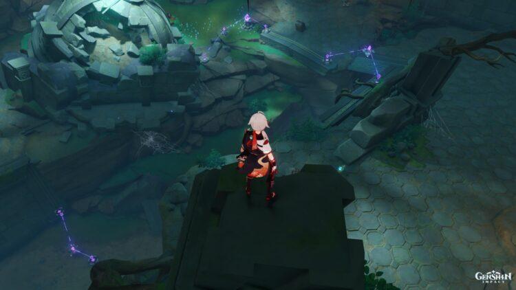 Genshin Impact Through The Mists Shirikoro Peak Perch Offering Relay Stone Puzzle Seelie 2