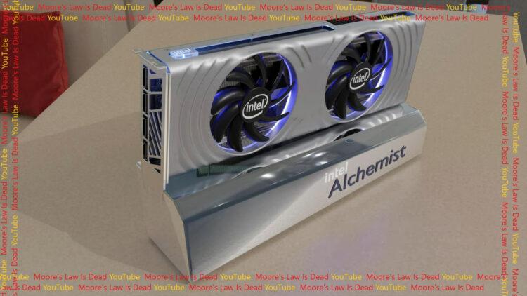 Intel Arc Alchemist Reference Design Graphics Card Leak Render performance