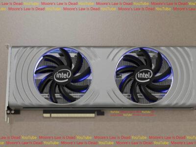 Intel Arc Alchemist Reference Design Leak Render Graphics Card