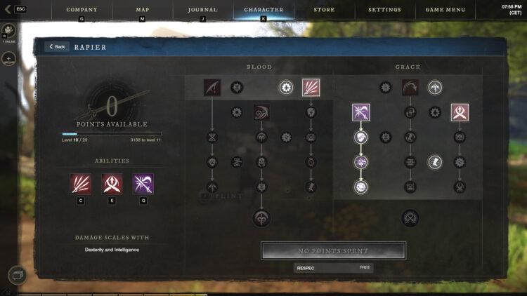 New World Weapon Skills