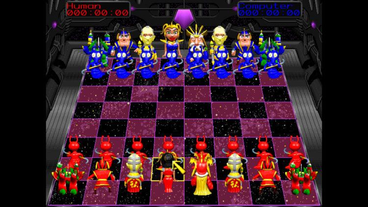 Battle Chess 4000 Steam starting positions