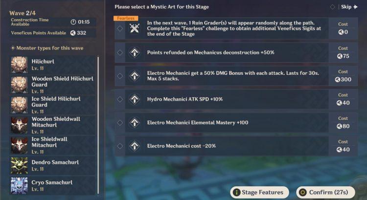 Genshin Impact Theater Mechanicus Guide Xiao Lantern Veneficus Sigil Tower Defense 3b
